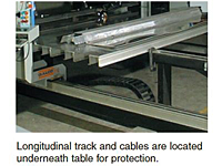 Longitudinal Track and Cables