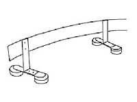 Perpendicular Track Mounting Bracket